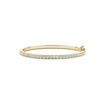 Classic Diamond Prong Bangle Bracelet