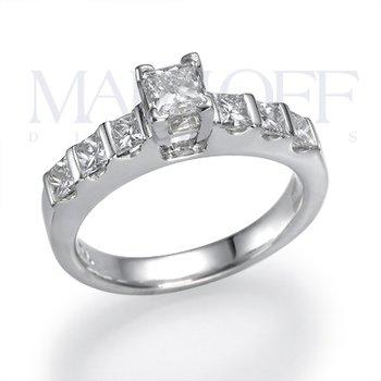 Timeless Six Diamond Platinum Engagement Ring Mounting