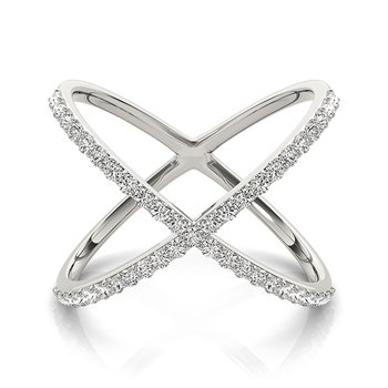Modern Diamond X Fashion Ring