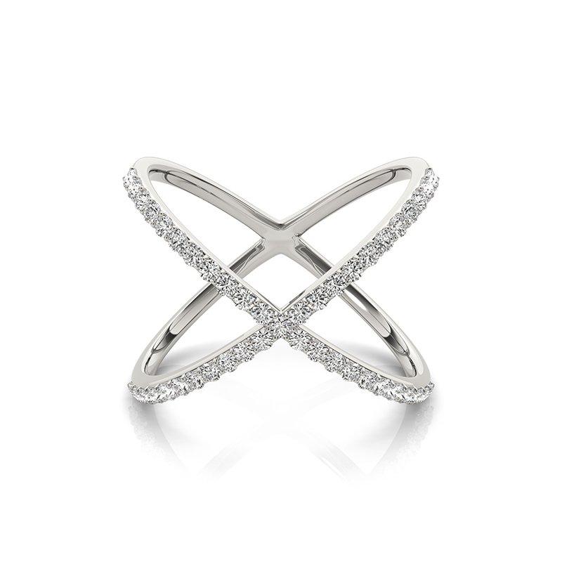 Modern Diamond X Fashion Ring