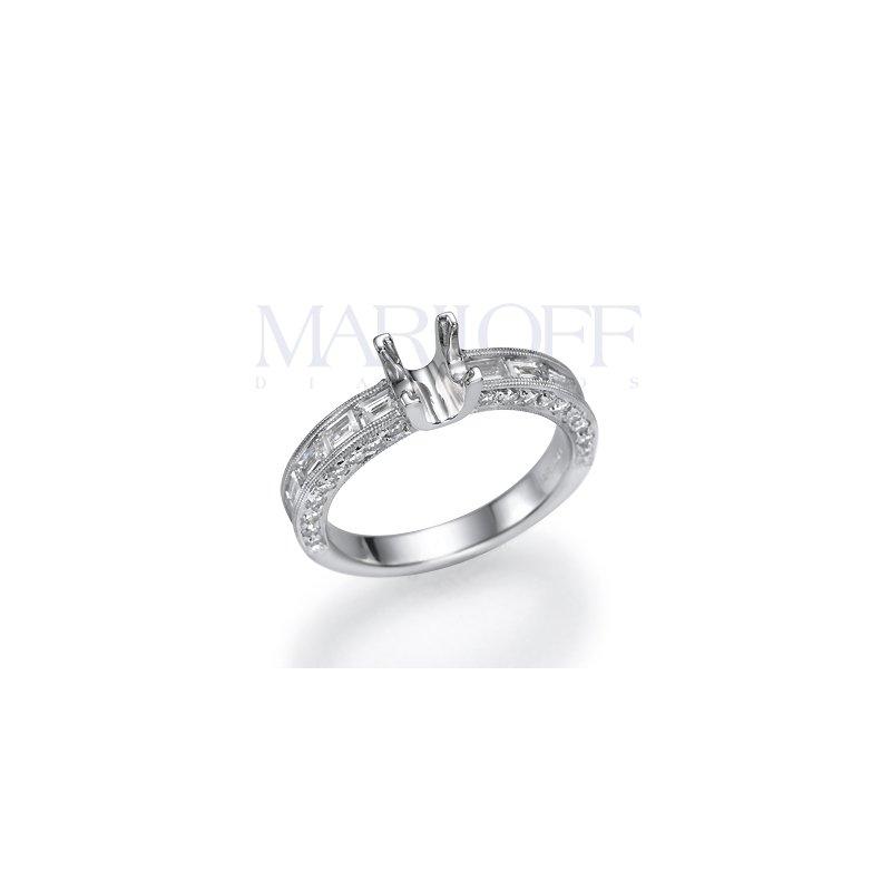 Vintage Milgrain 1.25 Ctw Engagement Ring Mounting