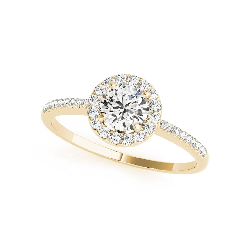 Delicate Halo Engagement Ring