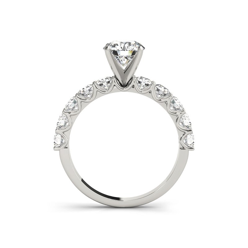 Classic Shared Prong Engagement Ring Mounting