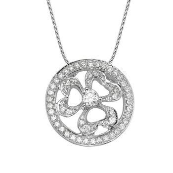 Pave Diamond Clover Pendant