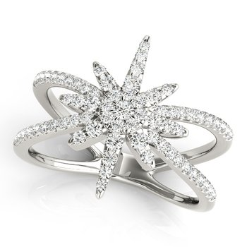 Modern Star Diamond Fashion Ring