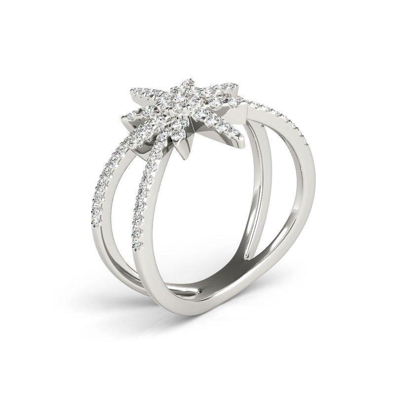 Modern Star Diamond Fashion Ring