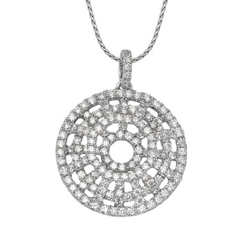 Circular Diamond Pendant