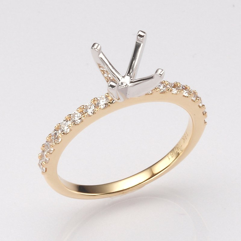 18K Yellow Gold .34Ctw Diamond Mounting