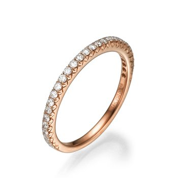 18K Rose Gold Straight Wedding Band