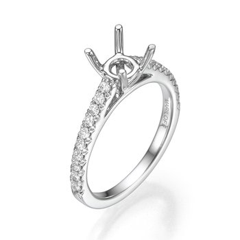 18K White Gold Classic Diamond Mounting