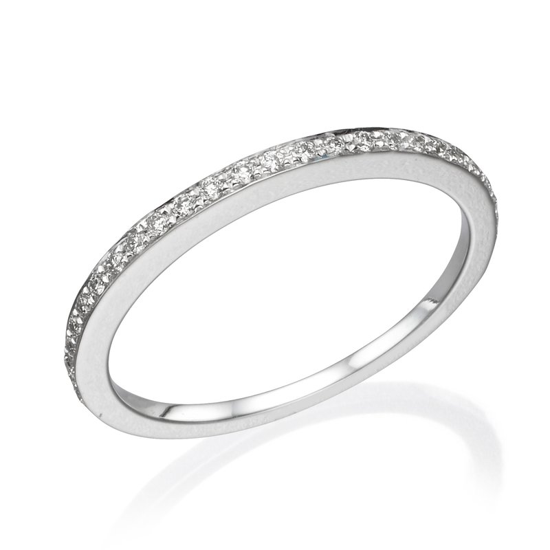 18K White Gold .20Ctw Wedding Band