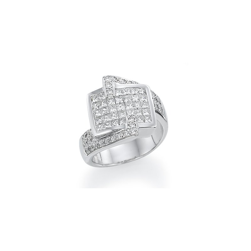 18K White gold Modern Fashion Ring