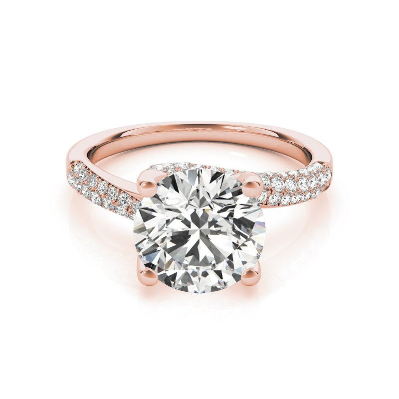 Twisted Pave Diamond Engagement Ring Mounting