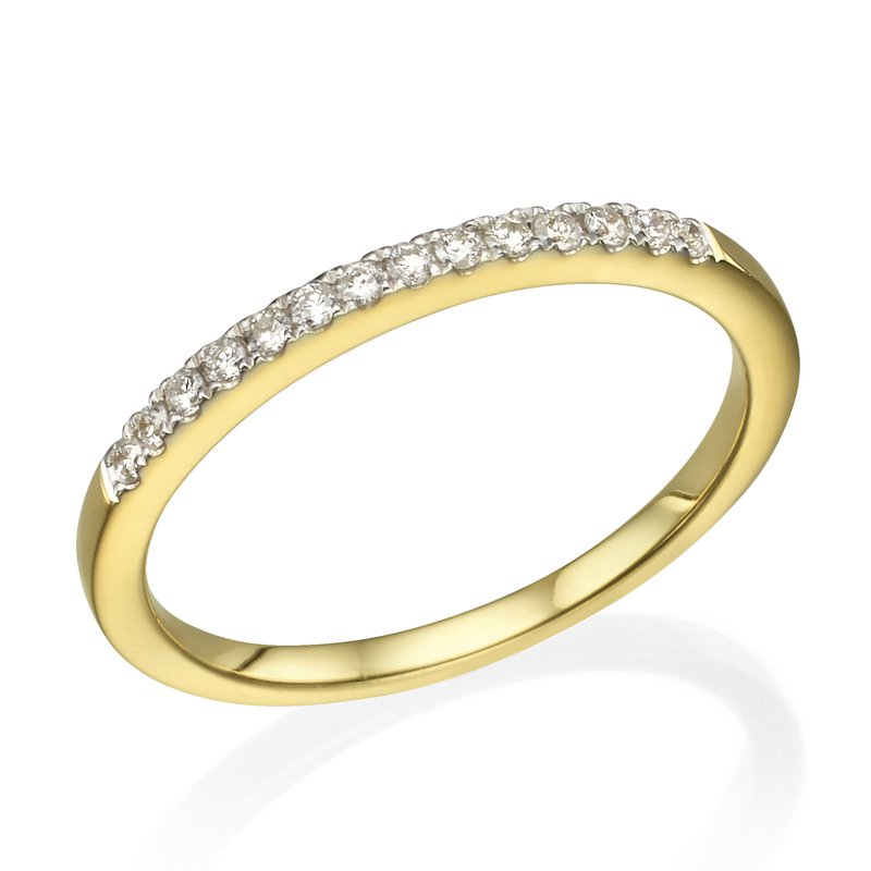 Delicate Prong Set Wedding Band