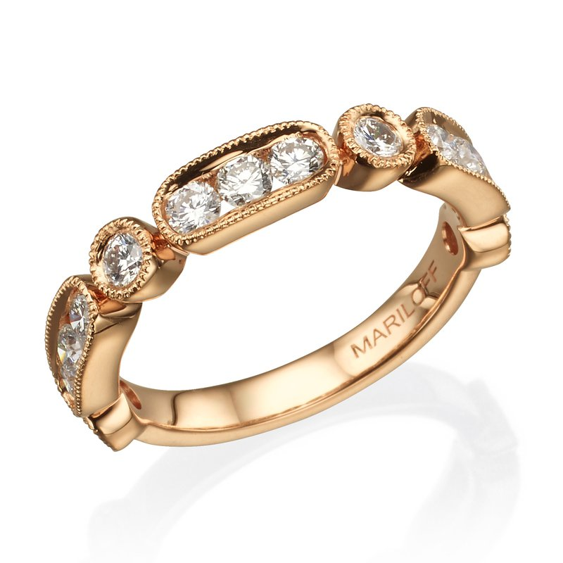 Vintage Alternating Shaped Diamond Band
