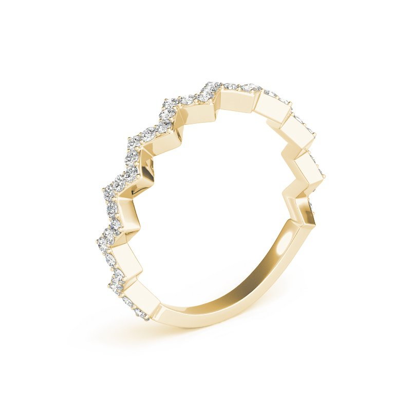 Geometric Jagged Diamond Band