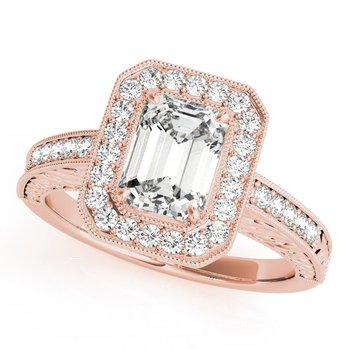 Vintage Emerald Engagement Ring Mounting