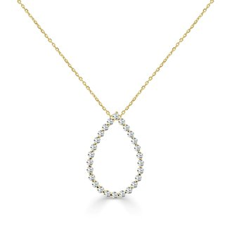14K Gold Diamond Drop Eternity Pendant