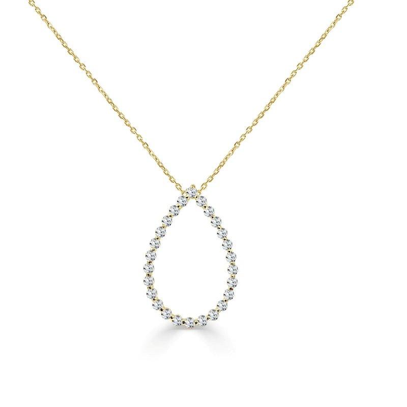 14K Gold Diamond Drop Eternity Pendant
