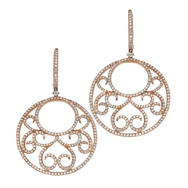 Vintage Diamond Fashion Earrings