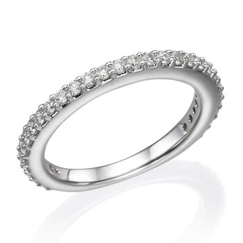 14K White Gold .57Ctw Wedding Band