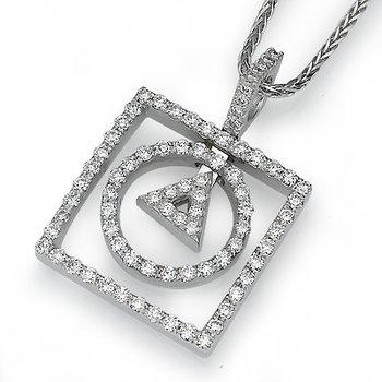 Geometric Diamond Pendant