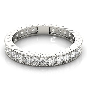 Milgrain Channel Set Diamond Eternity Band