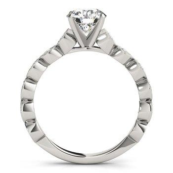 Milgrain Accent Diamond Engagement Ring Mounting