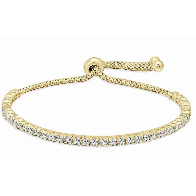 18K Gold Diamond Bolo Bracelet