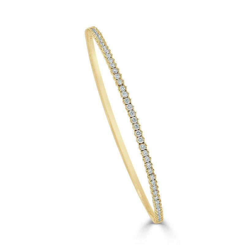14K Gold Diamond Bangle Bracelet