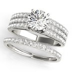 Classic Prong Multi-Row Engagement Ring Mounting