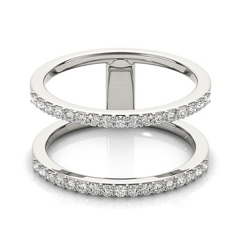 Modern Two-Row Diamond Fashion Ring