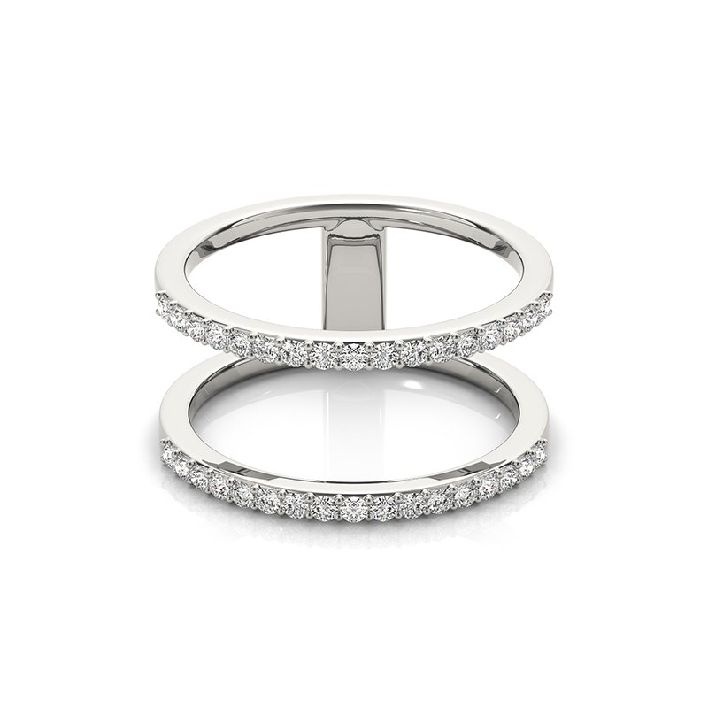 Modern Two-Row Diamond Fashion Ring