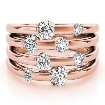 Multi-Row Diamond Fashion Ring