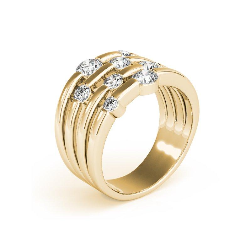Multi-Row Diamond Fashion Ring