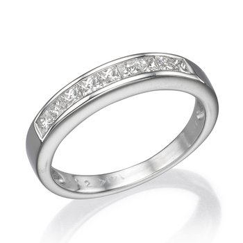 14K White Gold .34Ctw Wedding Band