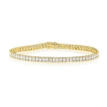 14K Gold & Baguette Diamond Tennis Bracelet