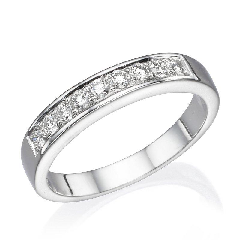 Platinum .27 Ctw Round Wedding Band