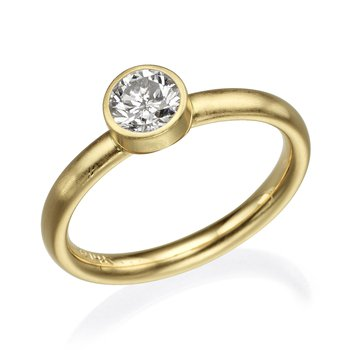 Gold Bezel Diamond Fashion Ring