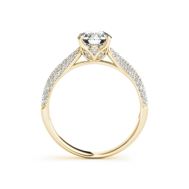 Classic Pave Diamond Engagement Ring Mounting