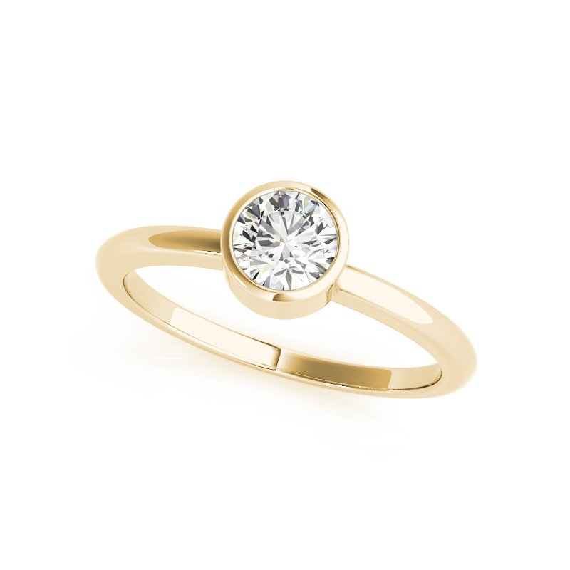 Bezel Solitaire Engagement Ring Mounting