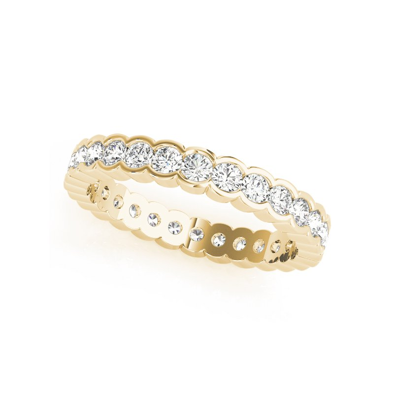 Half Bezel Eternity Band