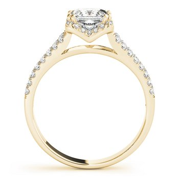 Split Halo Princess Cut Engagement Ring