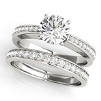 Classic Thin Illusion Channel Engagement Ring Mounting