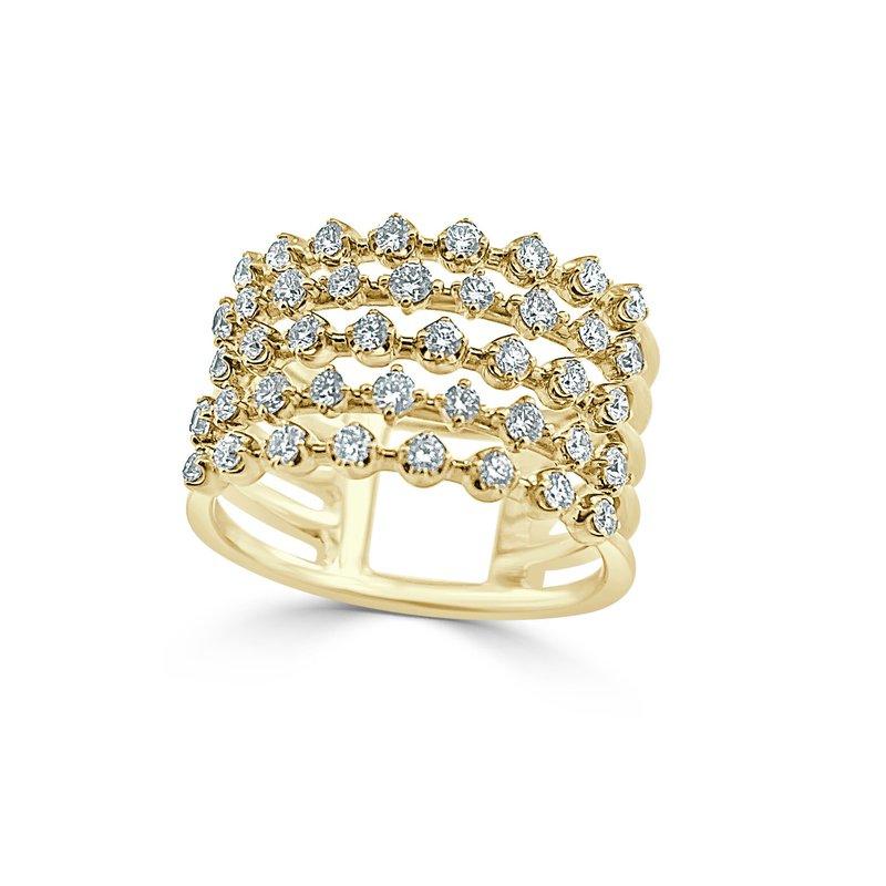 14K Multiple Row Diamond Fashion Ring