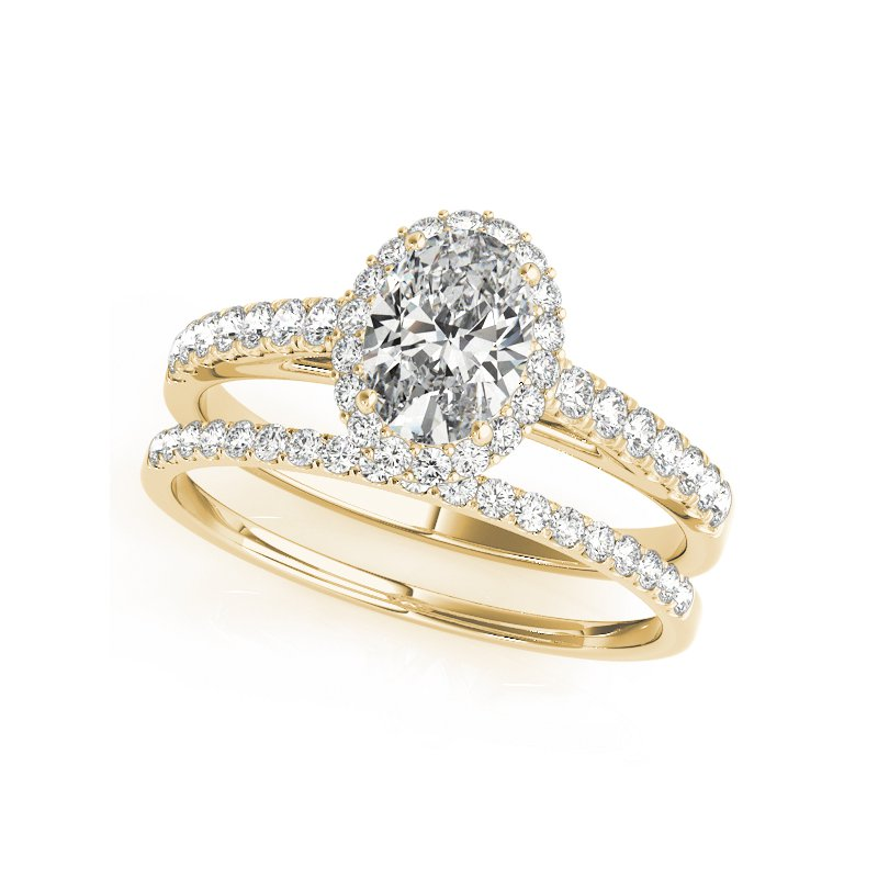 Oval Halo Diamond Engagement Ring Mounting