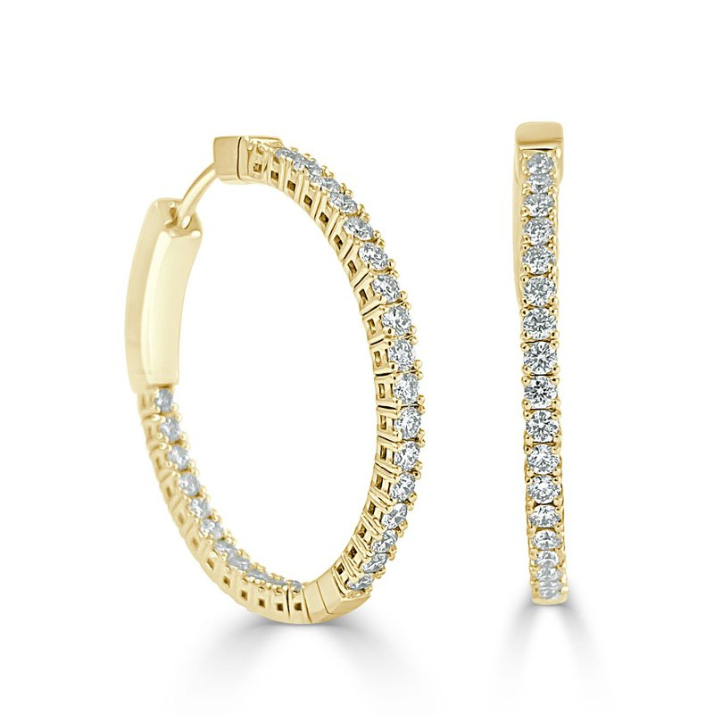 14K Gold 1 Inch Flexible Hoop Earrings