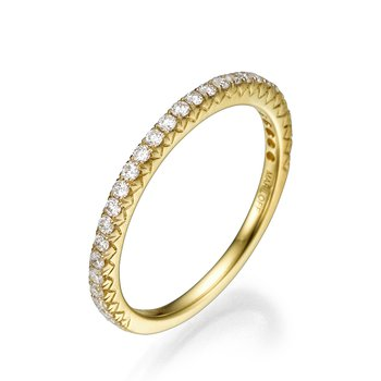 18K Yellow Gold Straight Wedding Band
