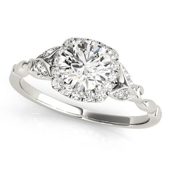 Vintage Inspired Floral Engagement Ring Mounting