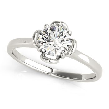 Floral Solitaire Engagement Mounting